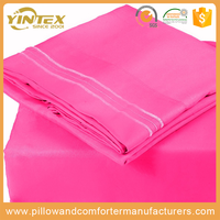 Hottest Item all over the world 120GSM solid china supplier wholesale hotel microfiber brushed bed sheet set