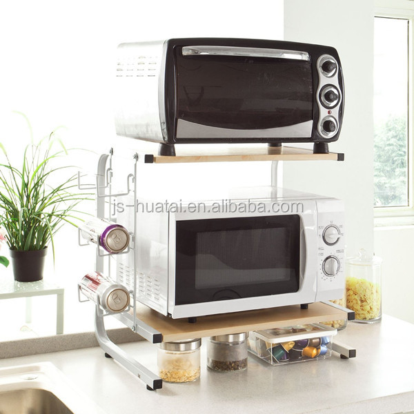Kitchen accesories extendable stainless steel microwave oven stand MS01