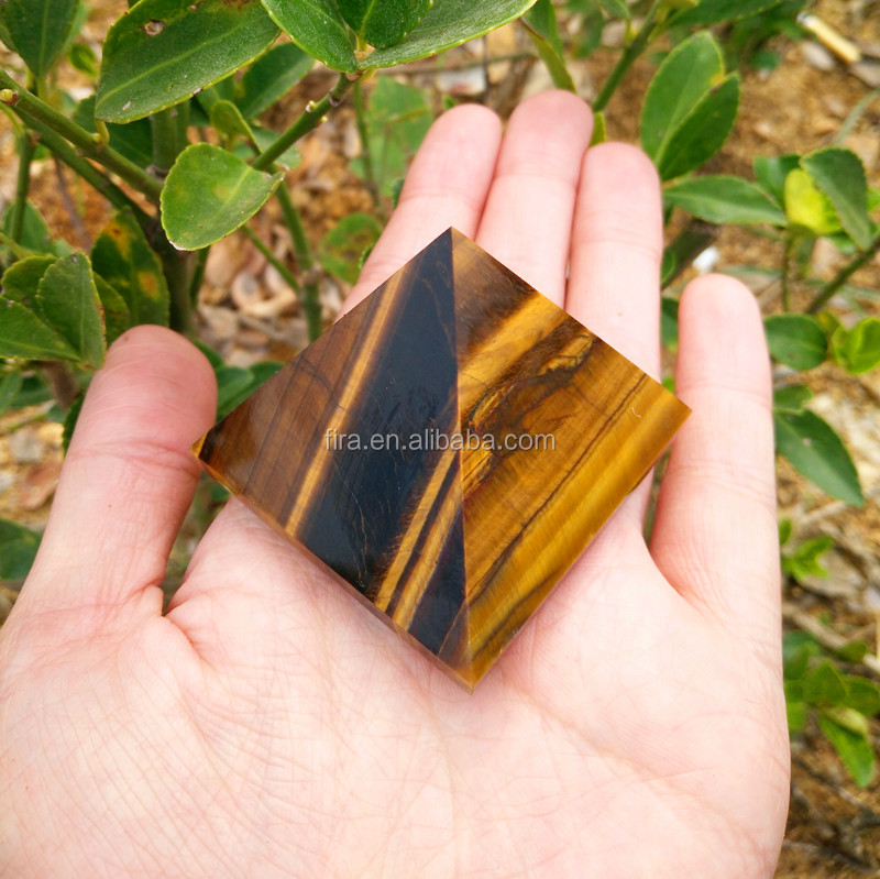 Wholesale Tiger Eye Crystal Egypt Pyramids Paper Weight