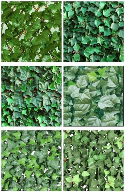 Vallas De Plastico Con Arbustos Perennes Artificiales Decorativos - Arbustos-para-vallas