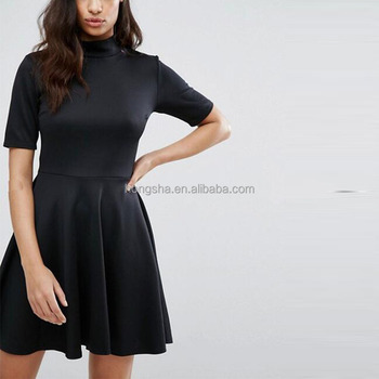 1f2ca13d53995 2017 Summer Latest High Neck Skater Dress Ladies Office Dress Hsm9135 - Buy  Ladies Office Dress,Ladies Office Wear Dresses Dress,Elegant Office ...