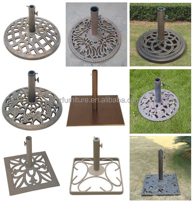Professional beach umbrella base iron cast parasol base