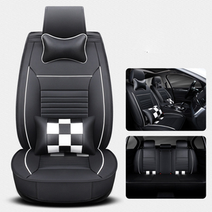 Wholesale Car Seat Cover Full Set Five Seats Vehicle Universal PU Leather Car Seat Cushion Cover
