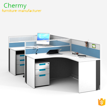 Modern design melamine office furniture 4 person call center office workstation/office cubicle workstation tables