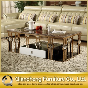 hot sale stainless steel gold coffee table set - buy gold coffee