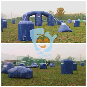 short-time produced inflatable bunkers paintball for rental