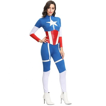 Carnival Ladies Captain Marvel Cosplay America Costume