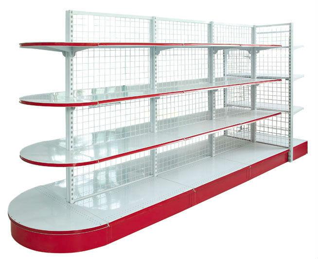 Wall Mounted Adjustable Shelving Supermarket Racks Double