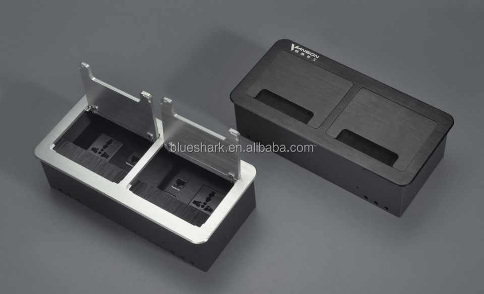 Multimedia desktop Brush socket / Office tabletop power socket