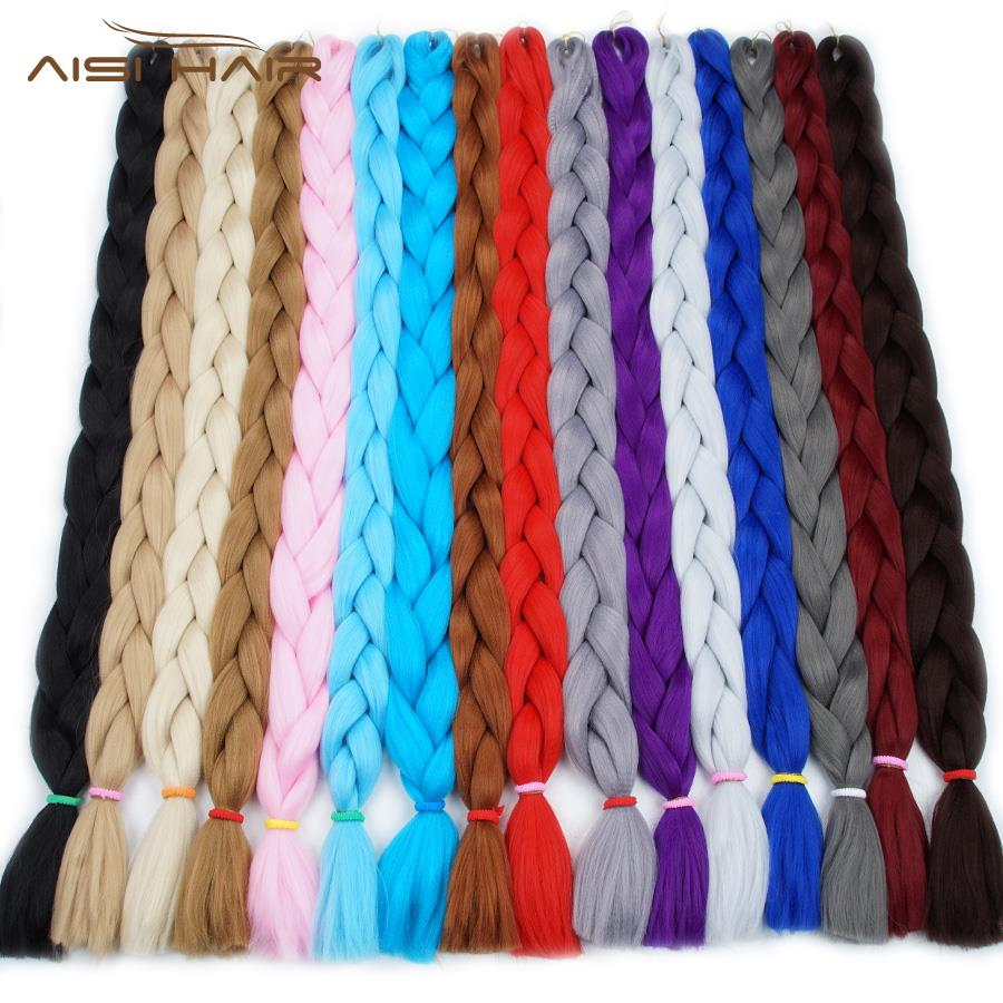 "AISI HAIR 165g 100g 82"" 64"" 48"" 85'' synthetic afro hair braid xpression synthetic hair braids"