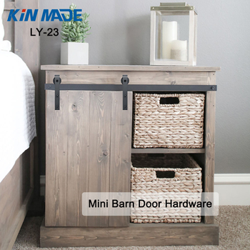 Rustic TV Stand Console Cabinet Hardware Sliding Mini Barn Door Kit