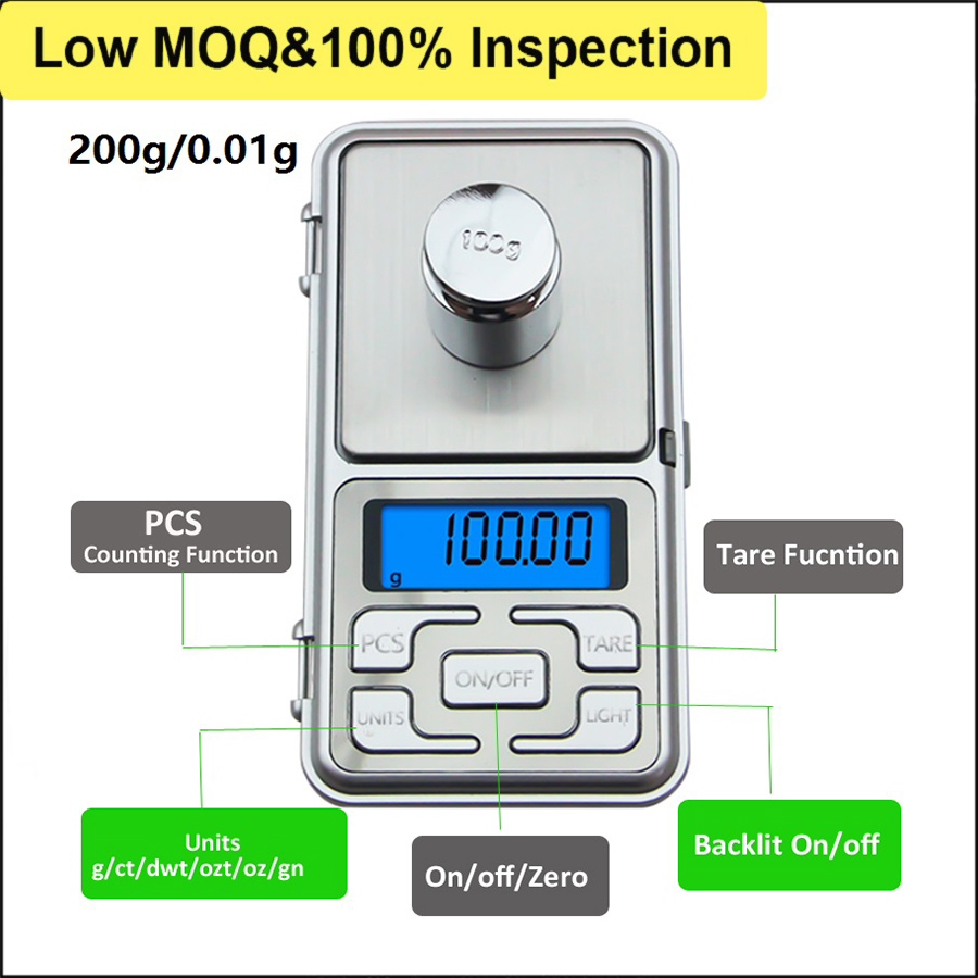 200gx0.01g PCS Counting List Scale Industries