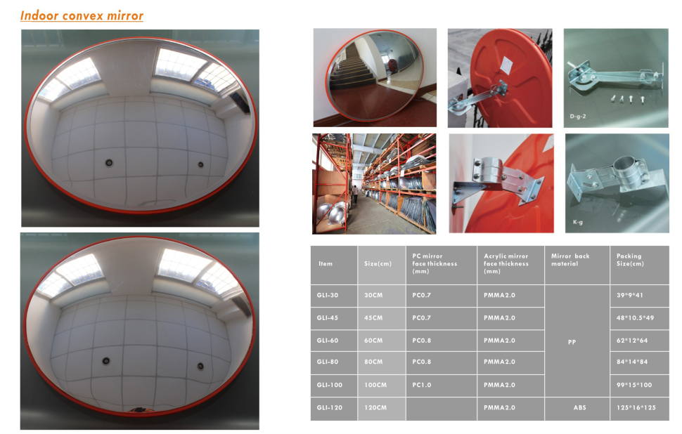 popular product 60cm 80cm 100cm Convex Mirror traffic safety mirrors outdoor
