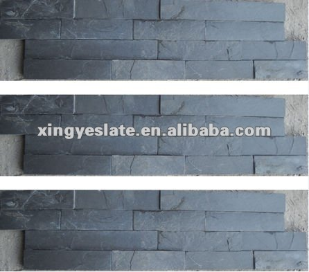 pure decorative black slate culture stone