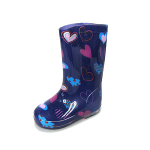cute girls rocket wellies cheap kids pvc rain boot