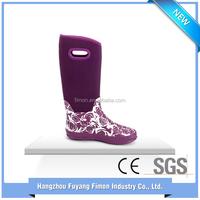 Wholesale fashion long rubber rubber ladies rain boots