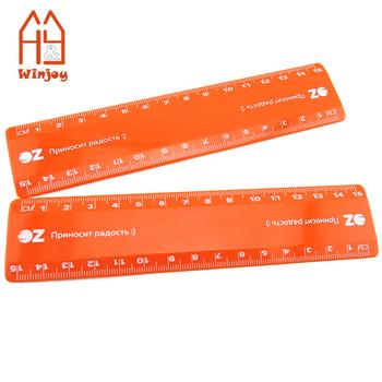 Low Moq 15 Cm 6 Inch Plastic Straight Orange Rulerpromotional