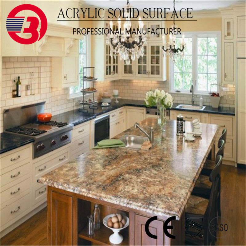 high polished Artificial quartz kitchen countertops dimensions outlet