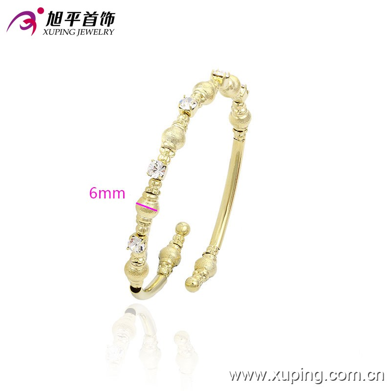 51416-xuping fashion 14k gold handmade jewelry crystal gold bangle bracelets