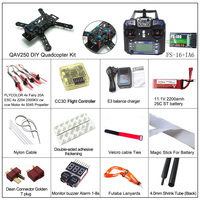 QAV250 Frame diy quadcopter kit wth rc 2204 2300KV brushless motor 20A ESC FS-I6 transmitter