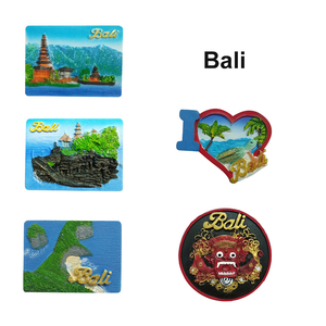 Indonesia bali scenery souvenir resin fridge magnet for visitor souvenir gifts