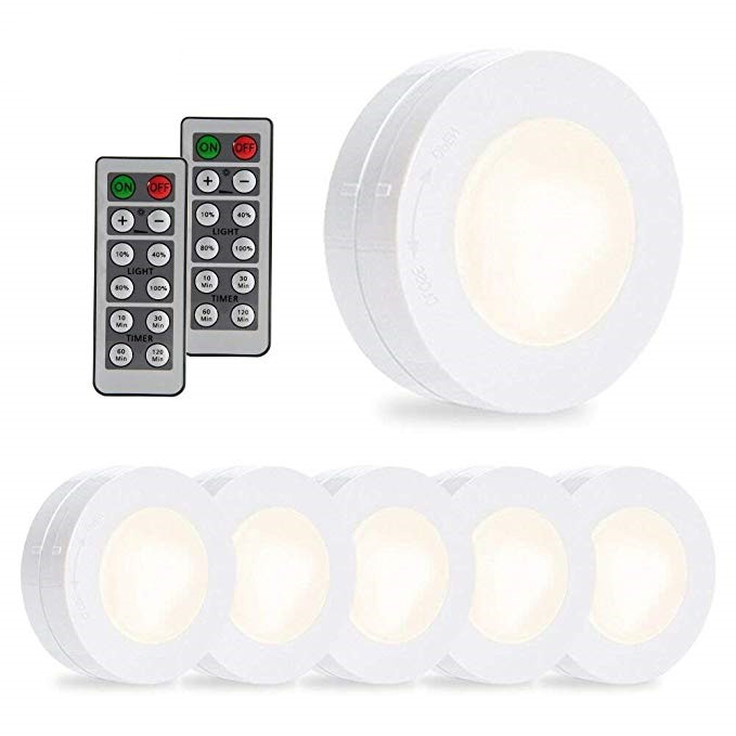 mini battery ultra-thin led tap light with wireless remote