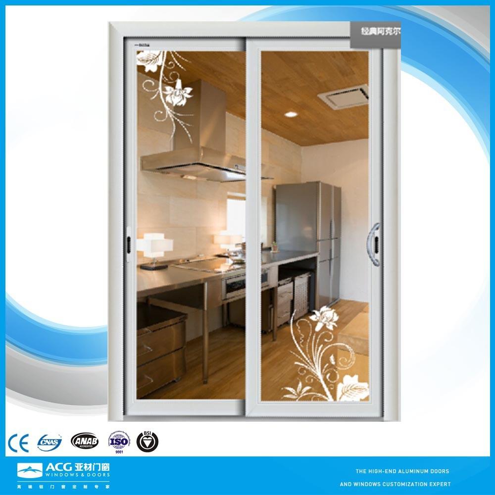 aluminio enmarcado puertas correderas de pantalla deslizante corredera para sala