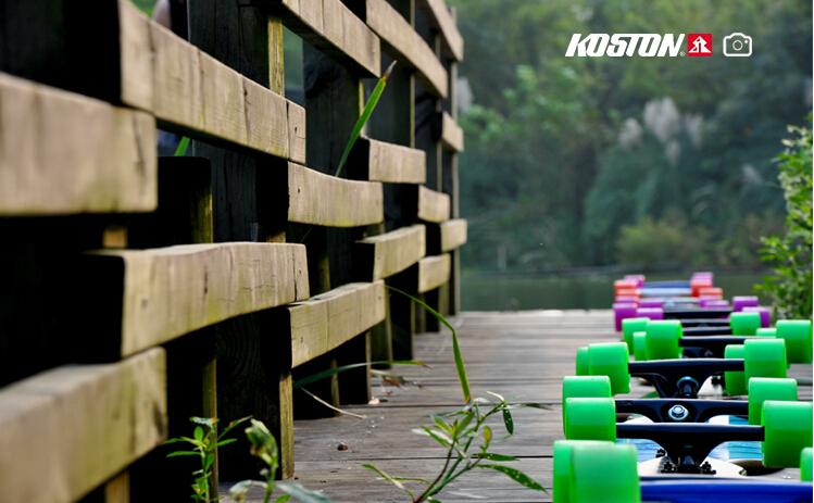 Koston Freestyle 62 มิลลิเมตรสีขาว Longboard ล้อ SHR80A Durometer