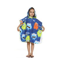 2019 High Quality Children Friendly Skin Baby Hooded Set Microfiber Magic Printed Pattern Bath Towel