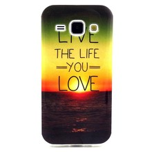 Soft Tpu Case for Samsung Galaxy J1 Ultra-thin phone cover Sunset Cartoon Rubber Back case flip Pouch