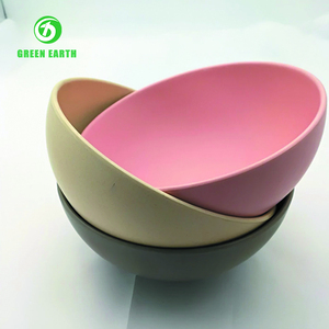 eco friendly bamboo fruit bowl Customized pattern plastic kids bowl hot sale coconut shell bowl