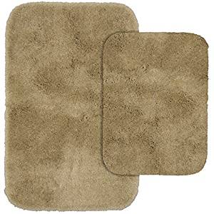 Garland Rug 2-Piece Finest Luxury Ultra Plush Washable Nylon Bathroom Rug Set, Taupe by Garland Rug