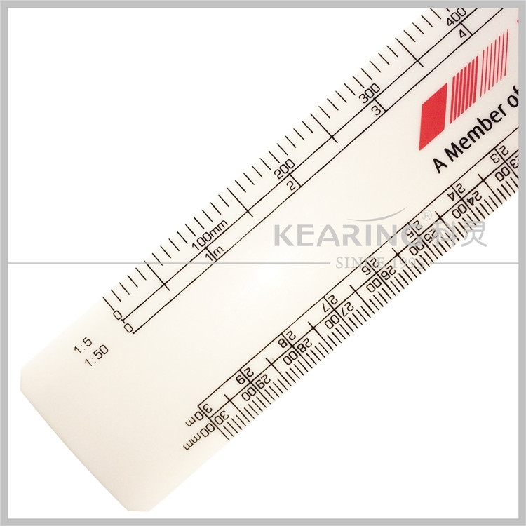 Kearing # 8505 Plastic 300mm architect oval scale ruler for Architects and Engineers
