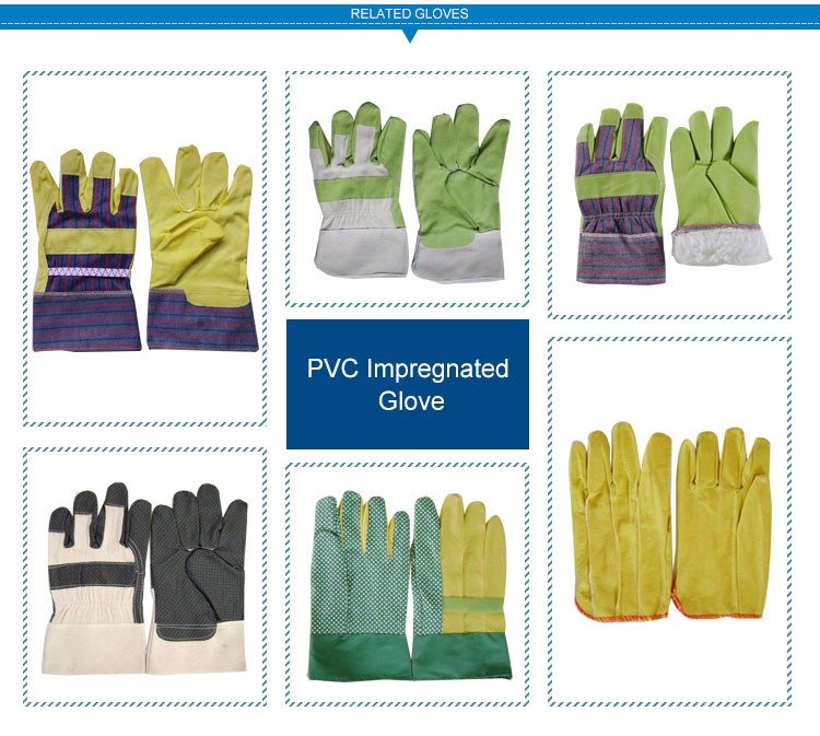 JX68A108 Hand Custom-Made Black PVC impregnated working glove
