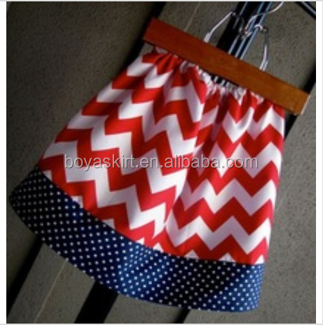 Lovely design fashion wholesale red chevron scooter skirt cotton baby girl tutu skirt polka dots skirt for baby girls