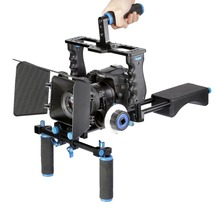 YELANGU D221 Kit Com o Ombro Montar <span class=keywords><strong>DSLR</strong></span> Rig + Follow Focus + Matte Box + Camera Gaiola para <span class=keywords><strong>Canon</strong></span> 5d mark Ii 7d <span class=keywords><strong>DSLR</strong></span> Camera