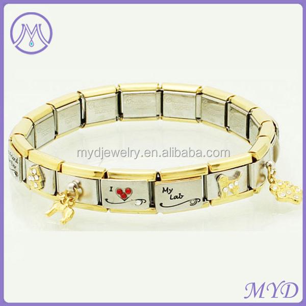 Italian Charm Bracelet Gold Plated