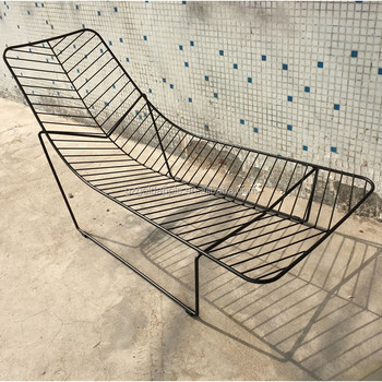 Outdoor Metal Lounge Chair, Leaf Wire Lounge Chair