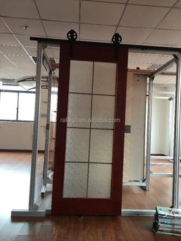 Rally Concepts 6FT Modern Sliding Barn Door Closet Hardware Track System  Unit For Single Wooden Door