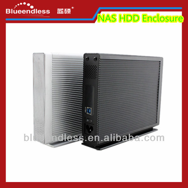 3.5 Inch Network Attached Storage Ethernet HDD Enclosure USB 3.0 to SATA IDE