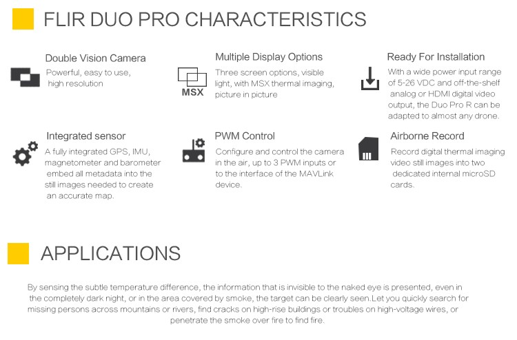 Duo Pro R Dual Temperature Sensor Camera With Pwm Control Uncooled Infrared  Thermal Camera Temperature Testing - Buy Thermal Camera,Infrared