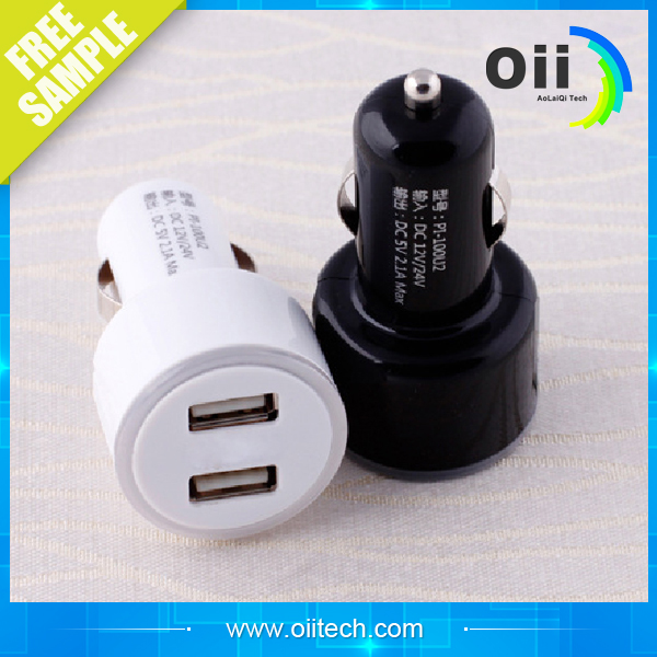 New type of car charger factory 3 USB LED lamp car charger for android