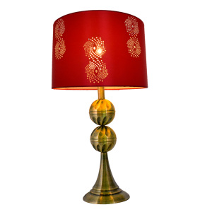 DIY modern pretty half ball crimson red purple satin fabric laser lampshade