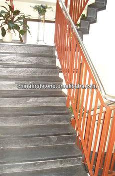 JX Black Slate Stairs Tread