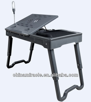 Multifunctional Laptop Table With Cooing Fan Sturdy Cheap Laptop