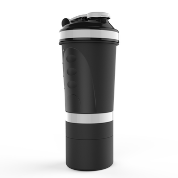 4 In 1 Whey Proteins Shaker With Pill Storage Carabiner Hot Uk