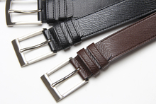 faux leather mens belt with pin buckle pu leather belt with reversible PU