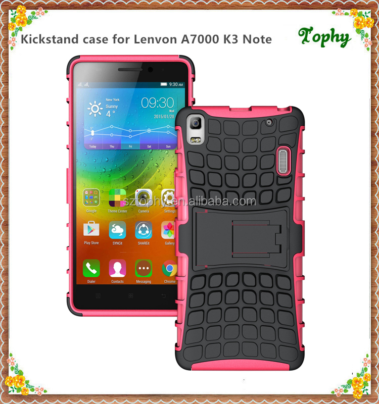 Pink Bulk Stand Cover For Lenovo A7000 K3 NOTE Phone Case for sales