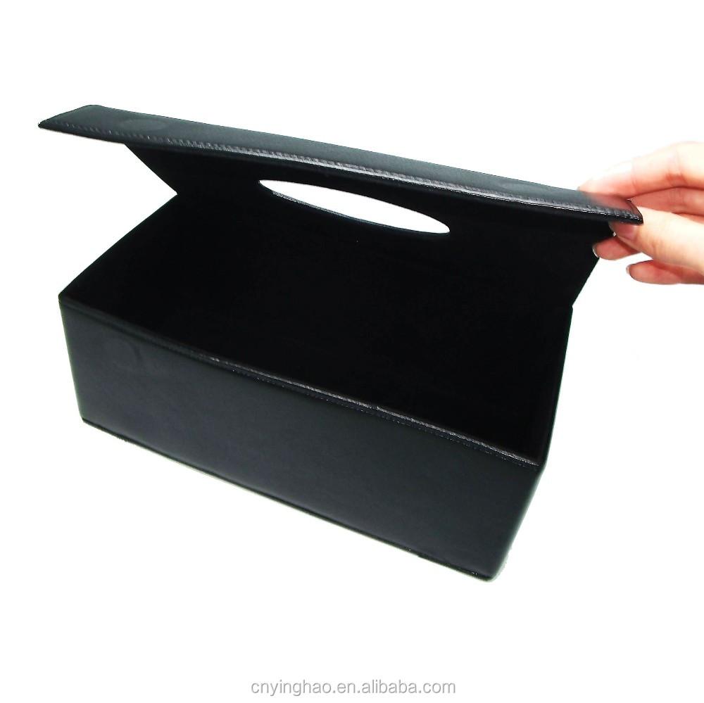 Disesuaikan Ukuran Menengah Pu Kulit Kotak Tisu Untuk Peralatan Tissue Rumah Tangga