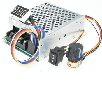 DC 12V 24V 48V 40A 2000W Reversible PWM DC Motor Speed Controller with Digital Display and cover